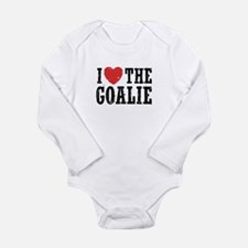 I Love The Goalie Long Sleeve Infant Bodysuit