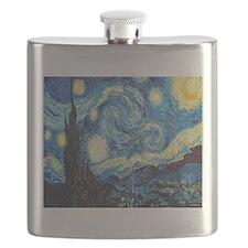 starry night van gogh Flask