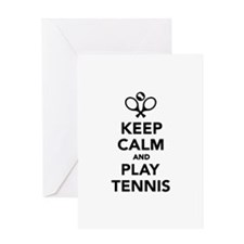 Keep calm and play Tennis Greeting Card