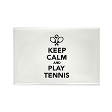 Keep calm and play Tennis Rectangle Magnet (10 pac