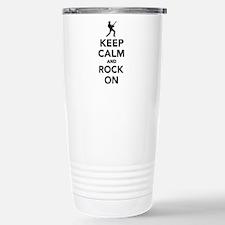 Keep calm and Rock on Travel Mug