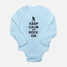Keep calm and Rock on Long Sleeve Infant Bodysuit