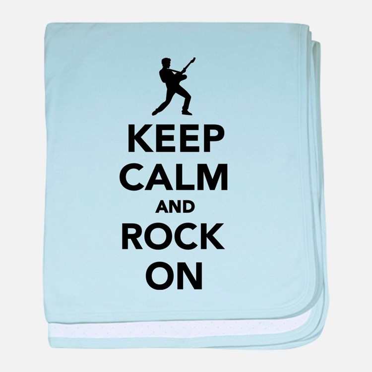 Keep calm and Rock on baby blanket