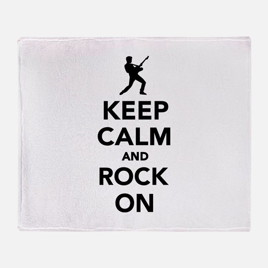 Keep calm and Rock on Throw Blanket