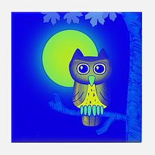 Blue Owl Tile Coaster