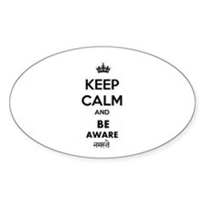 BE AWARE WHITE Decal