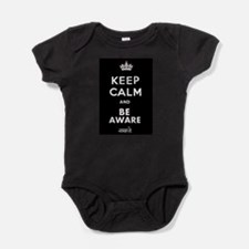 BE AWARE WHITE Baby Bodysuit