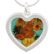 vincent van gogh sunflowers Necklaces