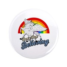 """Unicorn Rainbow 3.5"""" Button"""