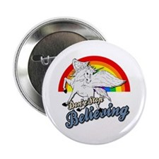 "Unicorn Rainbow 2.25"" Button"