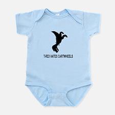 T-Rex Hates Cartwheels Infant Bodysuit