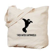 T-Rex Hates Cartwheels Tote Bag