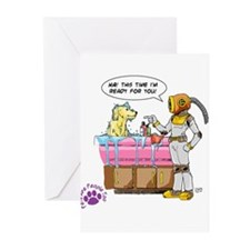 Groomer Humor - Battle Ready Greeting Cards (Packa