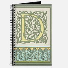 "Art Nouveau Intial ""D"" Embellish Your Worl Journal"
