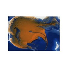 Abstract Gold Fish Rectangle Magnet