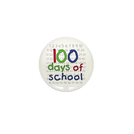 Numbers 100 Days Mini Button (10 pack)