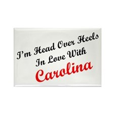 In Love with Carolina Rectangle Magnet