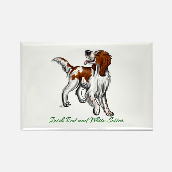 Irish Red and White Setter Magnets