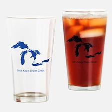 Cute Lake huron Drinking Glass