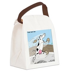 Triple Sock Cow Canvas Lunch Bag