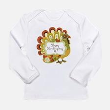 Happy Hanukksgiving Long Sleeve Infant T-Shirt