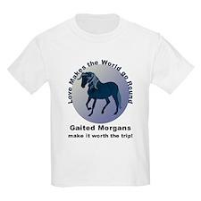 Gaited Morgans Worth the Trip! Kids T-Shirt