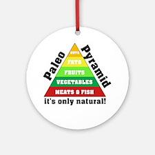 Paleo Pyramid - Natural Round Ornament