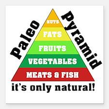 "Paleo Pyramid - Natural Square Car Magnet 3"" x 3"""