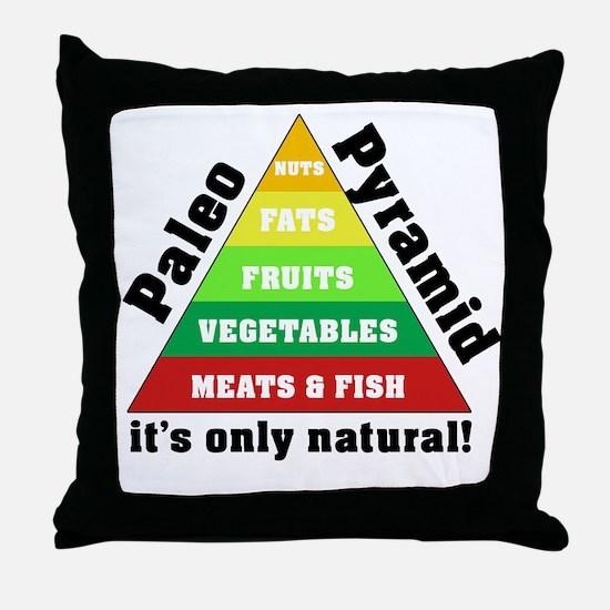 Paleo Pyramid - Natural Throw Pillow