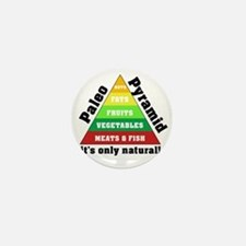 Paleo Pyramid - Natural Mini Button