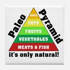 Paleo Pyramid - Natural Tile Coaster