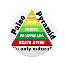 "Paleo Pyramid - Natural 3.5"" Button"