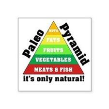 "Paleo Pyramid - Natural Square Sticker 3"" x 3"""