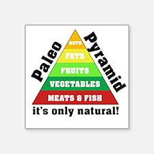 "Paleo Pyramid - Natural Square Sticker 3"" x 3"""