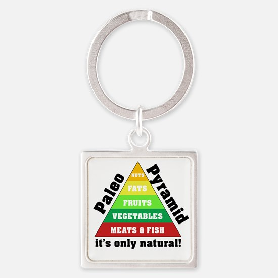 Paleo Pyramid - Natural Square Keychain