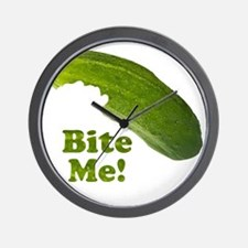 Bite Me! Pickle Wall Clock