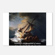 Rembrandt Quote Galilee Painting Postcards (Packag