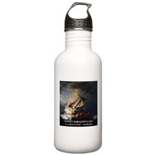 Rembrandt Quote Galilee Painting Water Bottle