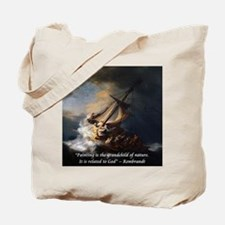 Rembrandt Quote Galilee Painting Tote Bag