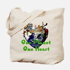 One Planet One Heart Tote Bag