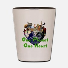 One Planet One Heart Shot Glass