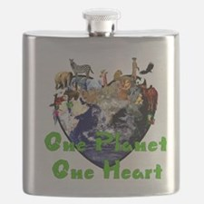 One Planet One Heart Flask