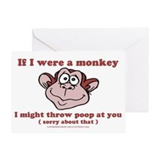 sometimesiwishiwereamonkey Greeting Card