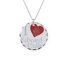 i_love_edward_cullen-black-v Necklace