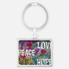 Love Peace Hope Landscape Keychain