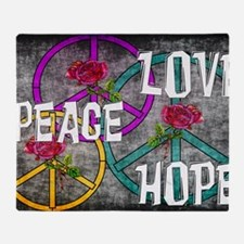 Love Peace Hope Throw Blanket