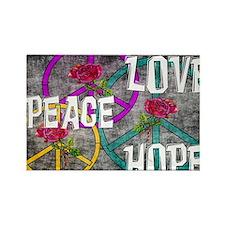 Love Peace Hope Rectangle Magnet