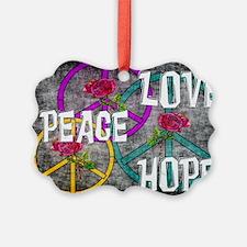 Love Peace Hope Ornament