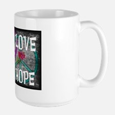 Love Peace Hope Large Mug