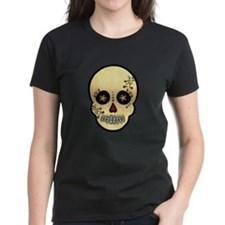 Sugar Skull Glitter and Gold Day of the Dead T-Shi
